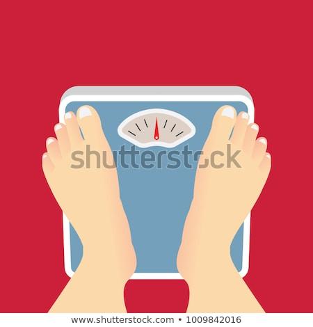 vector of feet on weighing machine Stock photo © olllikeballoon