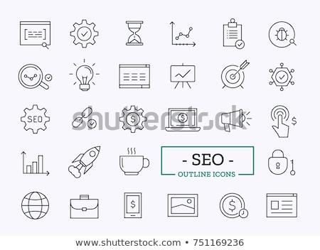 Vecteur affaires symbole icônes isolé Photo stock © animagistr