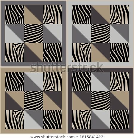 Seamless ethnic textile seamless vector pattern. Geometric thin zig zag native print. Folk mexican Stock photo © Iaroslava