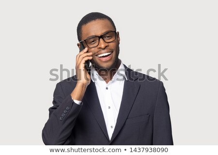 Obraz radosny uśmiechnięty człowiek formalny nosić Zdjęcia stock © deandrobot