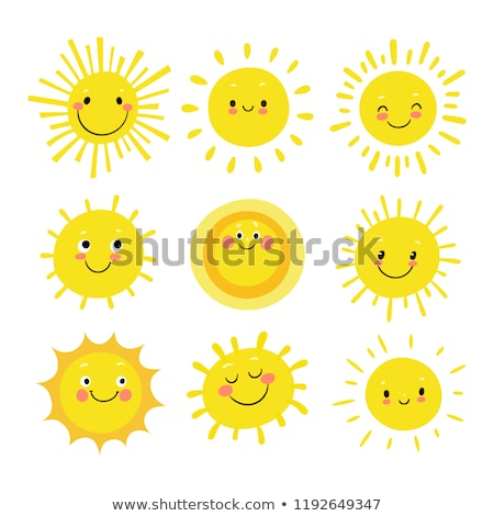 vector cute icon haappy yellow sun Stock photo © VetraKori