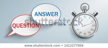 Speech Bubble Question Answer Stopwatch Header Stock photo © limbi007