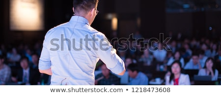 presenter with presentation conference businessman foto stock © robuart