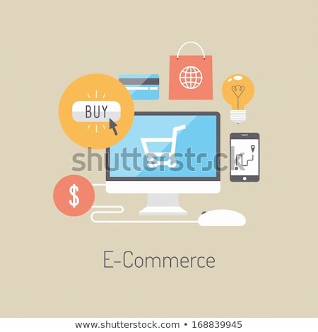 Monitor computer kopen website vector Stockfoto © robuart