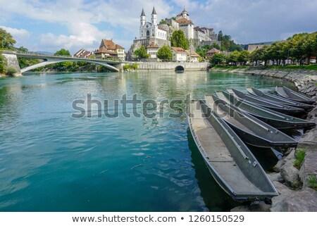Ver castelo Suíça alto acima íngreme Foto stock © borisb17