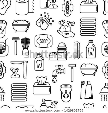 личной гигиены иконки шаблон вектора набор дизайна Сток-фото © netkov1