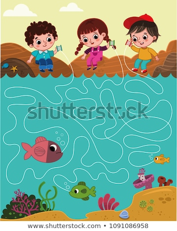 Fishing People with Results Vector Illustration Stock photo © robuart