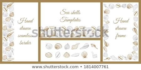 Naadloos ontwerp geïsoleerde objecten zomer illustratie vis Stockfoto © bluering