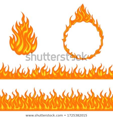 ardente · fogo · coleção · isolado · branco · cartaz - foto stock © robuart