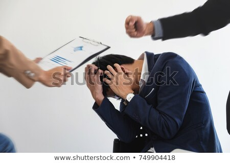 Business people conflict problem working in team turns into figh Stock photo © Freedomz