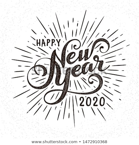 happy new year 2020 greeting card vintage texture numbers stock photo © ussr
