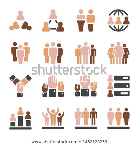 Popolazione pelle mondo icona folla Foto d'archivio © bspsupanut