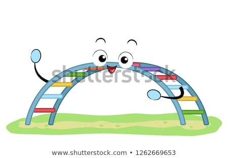 Mascot Playground Rainbow Bar Illustration Stock photo © lenm