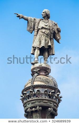 Barcelona İspanya Bina yaz kentsel heykel Stok fotoğraf © boggy