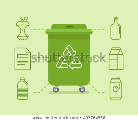 Glass waste recycling - modern flat design style illustration Stock photo © Decorwithme