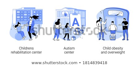 Child overweight treatment vector concept metaphors. Stock photo © RAStudio