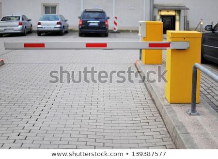 żółty parking samochodu ulicy piętrze blokady Zdjęcia stock © magraphics