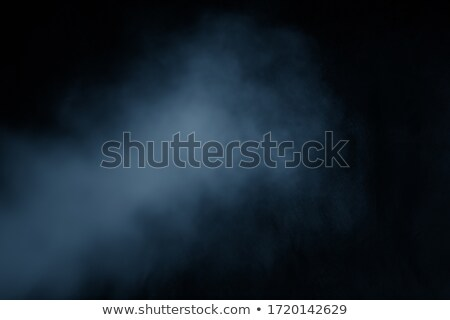 Blue Cloud Spotlighted on Black Background Stock photo © make