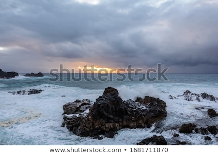 A powerful storm in the Atlantic Ocean in a bay on the coast of Tenerife. Stock photo © ruslanshramko