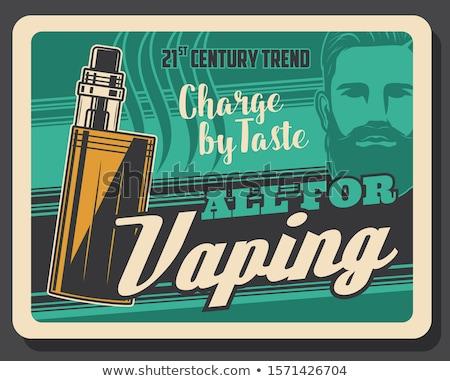 Hookah compras bar publicidade cartaz vetor Foto stock © pikepicture
