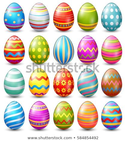 Easter Eggs with Realistic ornament pattern, Vector Stock photo © Andrei_