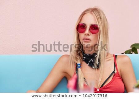 портрет прелестный приятный глядя девушки удобный Сток-фото © vkstudio