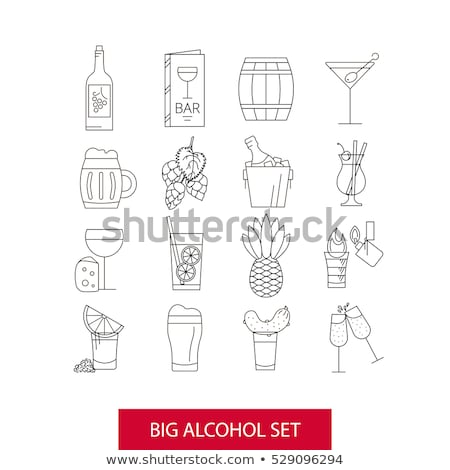 burning bottle icon vector outline illustration Stock photo © pikepicture