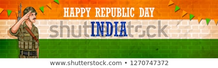 Indian armii żołnierz naród bohater duma Zdjęcia stock © vectomart