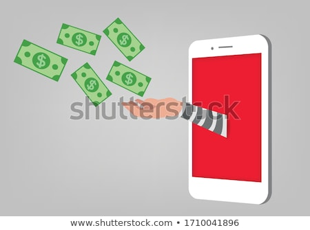 Vector Gangster Concept with Money Stock photo © dashadima