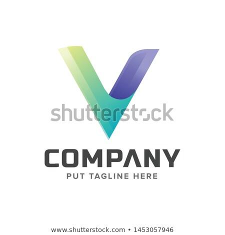 Mektup logo tasarımı geometrik üçgen ok şablon Stok fotoğraf © kyryloff