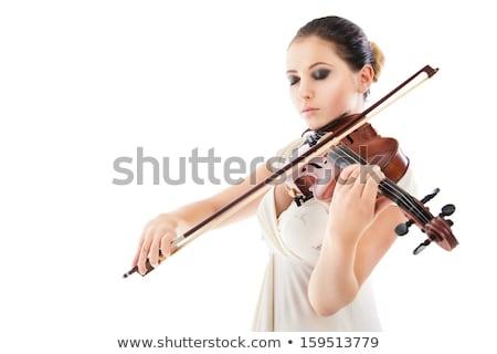 Profi nő hegedűművész játszik hegedű szenvedélyes Stock fotó © Giulio_Fornasar