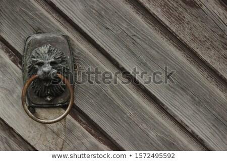 фасад · кирпичных · старые · стены · окрашенный · двери - Сток-фото © bobkeenan
