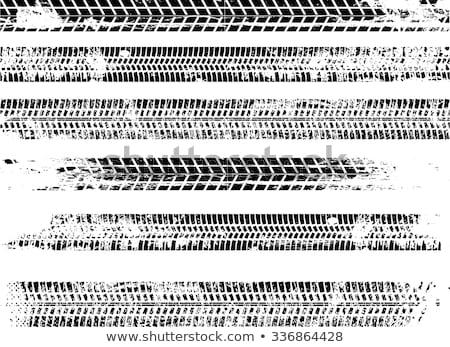 タイヤ 砂の 砂利道 印刷 汚れ ストックフォト © pancaketom