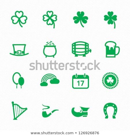 Horseshoe And Four Leaf Clover Vector Illustration Sweet Lana