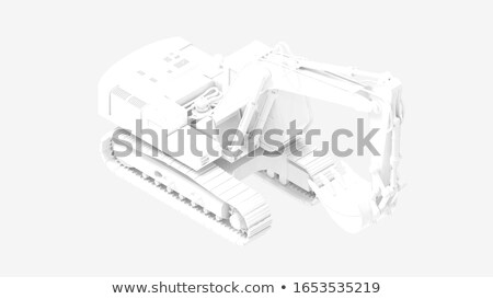 Grey model of the digger Stock photo © anyunoff