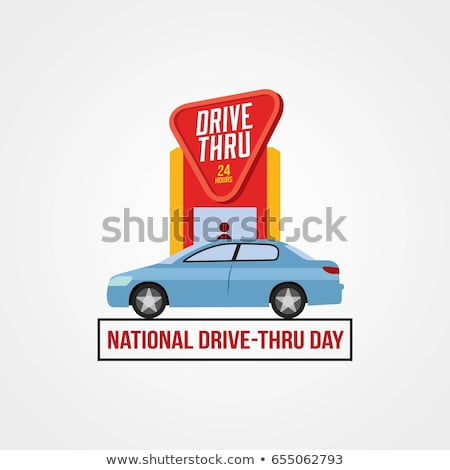 Drive thru sign Stock photo © trgowanlock