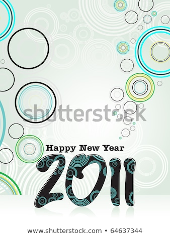 absract colorful new year 2011 theme  Stock photo © pathakdesigner