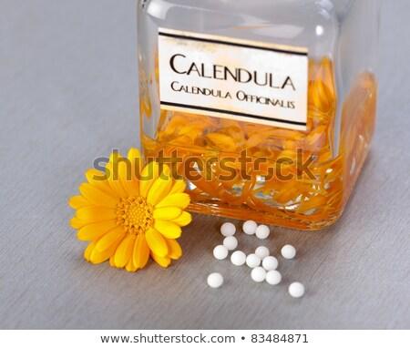 Homeopatik hapları çiçek etrafında tıp Stok fotoğraf © erierika