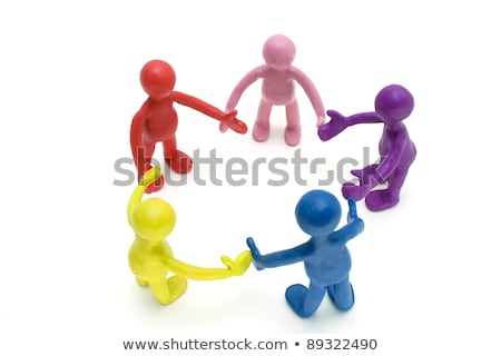 Pair of plasticine puppets on white background Stock photo © vetdoctor
