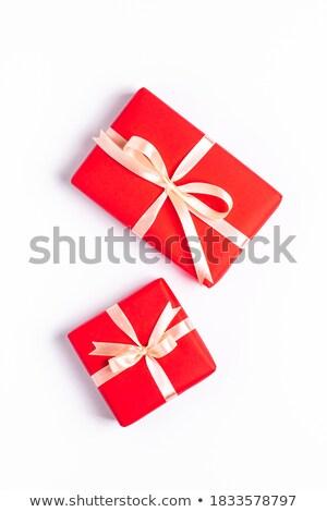 Dwa christmas ozdoby czerwony szkła kolor Zdjęcia stock © 808isgreat