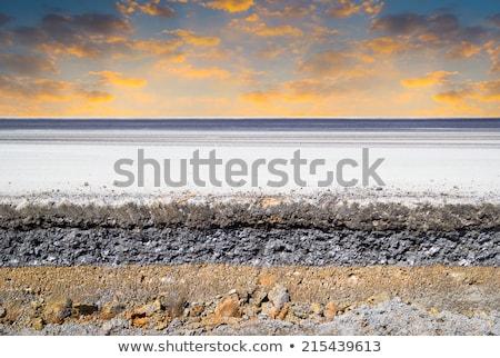 zarándok · kő · kereszt · LA · felhők · hegy - stock fotó © gewoldi