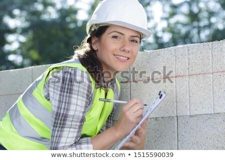 Gorgeous female bricklayer Stock photo © photography33