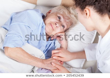 nurse taking care of old lady Stock photo © photography33
