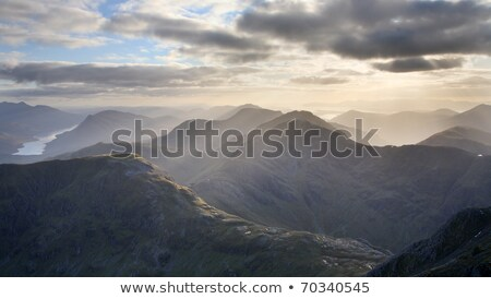soft evening scene in scottish highlands Stock photo © gewoldi