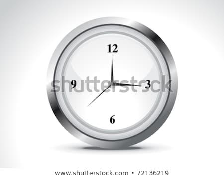 銀 · メタリック · 目覚まし時計 · 実例 · クロック · 広場 - ストックフォト © pathakdesigner