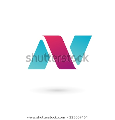 Glossy Icons for letter N stock photo © cidepix