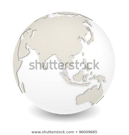 地球 回転 表示 白 デザイン ストックフォト © JohanH
