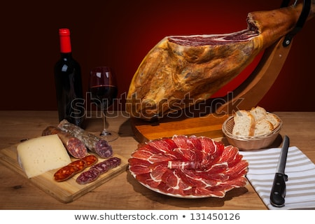 wine and serrano ham Stock photo © M-studio