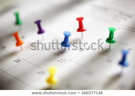 kalender · shot · Rood - stockfoto © cozyta