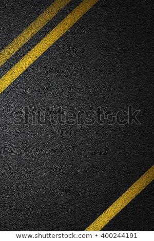 lijn · snelweg · ochtend · weg · bos · natuur - stockfoto © AndreyKr